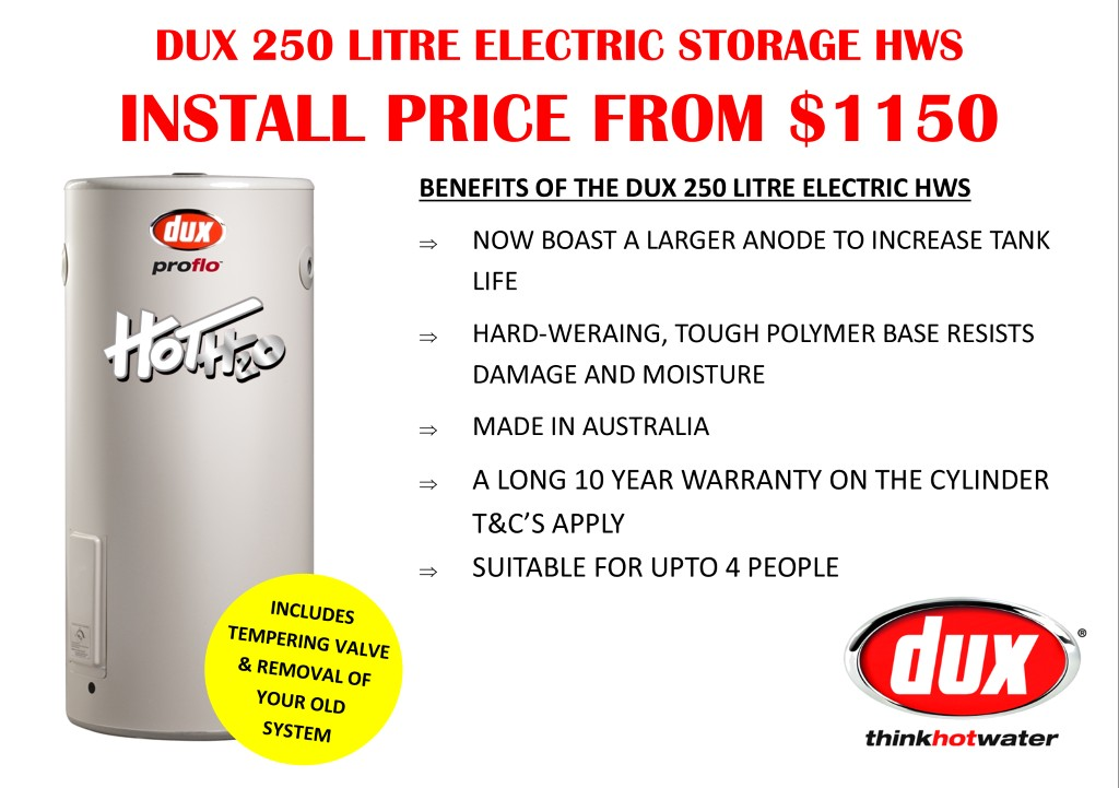 Dux Hot Water System Price
