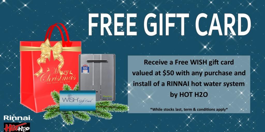 rinnai Gift Card Xmas special